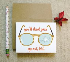 You'll Shoot Your Eye Out Christmas card --  Etsy