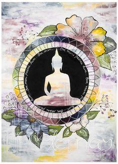 Giclée/reproduction Bouddha 2 par MarikaLemayArtiste sur Etsy