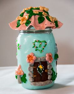 Check out this item in my Etsy shop https://www.etsy.com/listing/268212574/fairy-house-jar-fairy-home-fairy-garden