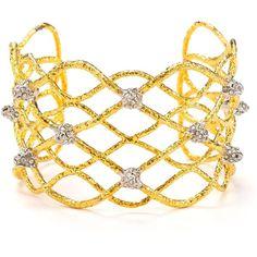 Alexis Bittar Siyabonia Fern Gold Small Spike Woven Cuff. wantttt but sold out
