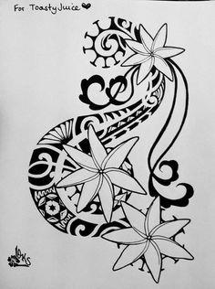 tiare flower tahitian hawaiian samoan tattoo tatt | Polynesian Tattoo ...
