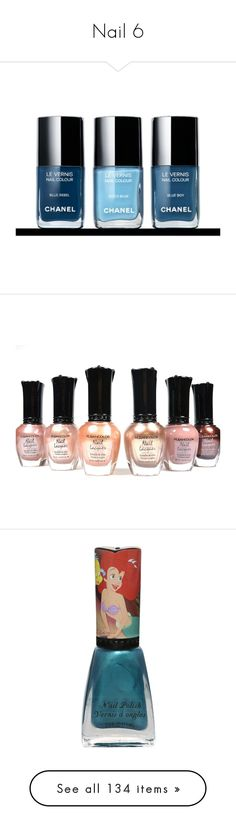 """Nail 6"" by michal100-15-4 ❤ liked on Polyvore featuring nail polish, nails, cosmetics, makeup, beauty products, nail care, beauty, little mermaid, disney and disney nail polish"