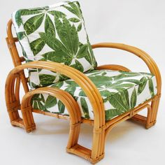 Horseshoe Rattan Chair from the 1940's :: now that i know how to sew piping...because replacing those seat covers, cost a mint.