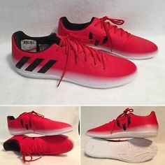 san francisco cc8a9 27d04 Mens Adidas 16.3 IN Messi Indoor Soccer Shoes Red BA9017 Size 11  eBay  Zapatos De