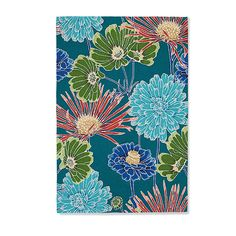 Brighton Floral Area Rug - too contemporary? Too bright? Rug Inspiration, Solid Background, Floral Area Rugs, Grandin Road, Home Decor Online, Floor Decor, Home Rugs, Indoor Rugs, Rug Hooking