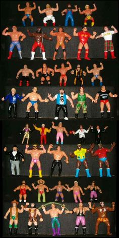 I used to have a dozen or so of these things when I was a boy. They were tough as shit. One time I stripped all my sisters barbies and left my laid my wrestlers on top. Left them all over my living room floor for her to find. Childhood Toys, Childhood Memories, Wrestling Superstars, Wcw Wrestling, Wwf Superstars, Wwf Toys, Star Wars History, Best Action Figures, Modern Toys