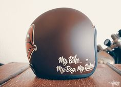 """Biltwell """"My Rules!"""" hand painted by Brusco."""