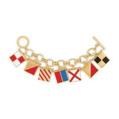 Charm Bracelets - Nautical Flags I Love You Charm Bracelet | C. Wonder