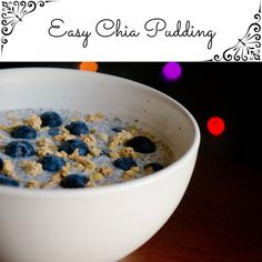 Easy Chia Pudding... A slow burning breakfast that is sure to keep you full all morning and energized to take on the day ahead. The best part? This no cook meal can be prepared the night before so it is good and ready for you in the morning.