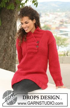 A real winter treat - a warm jumper in #DropsDesign Eskimo or Andes #knitting
