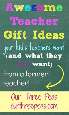 Awesome gifts ideas for your favorite teacher that they will actually want! (from a former teacher!)