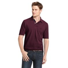 Men's IZOD Classic-Fit Solid Pique Polo, Size: Medium, Drk Purple