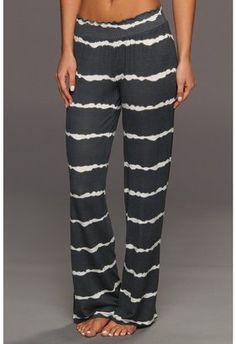 Salvage - Tie Dye Days Pajama Pant (Charcoal) - home made - lines - white - blue - long - street style Cool Outfits, Fashion Outfits, Womens Fashion, Diy Clothing, Get Dressed, Lounge Wear, Casual Wear, Chic, What To Wear