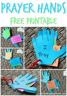 DIY prayer hands for kids - preschool bible class ideas Children's Church Crafts, Vbs Crafts, Preschool Crafts, Toddler Church Crafts, Easter Crafts, Hand Crafts, Daycare Crafts, Free Preschool, Felt Crafts
