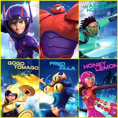 Big Hero 6 Movie Characters | Big Hero 6' Character Posters Surface - Check Them Out Here!