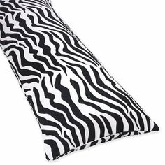 Zebra Animal Print Full Length Double Zippered Body Pillow Cover by Sweet Jojo Designs by Sweet Jojo Designs, http://www.amazon.com/dp/B0027YWSF2/ref=cm_sw_r_pi_dp_La85qb14Q627M