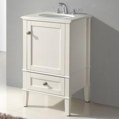 21 Inch Bathroom Vanity Sink. 21 Inch Single Bathroom Vanity Set With Off White Marble Top