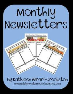 Monthly Newsletters-2 versions-PDF and Editable PowerPoint files!