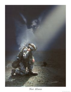 It's possible for loved ones to be protected while in battle. God sends His angels to guard and protect.