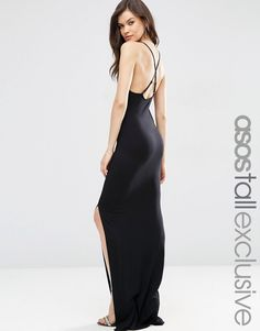 ASOS+TALL+Halter+Strappy+Back+Maxi+Dress