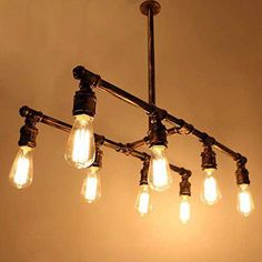 diy pipe lighting. vintage pipe chandelier diy lighting
