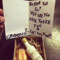 Diy will you be my groomsman? Fireball shots