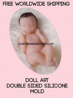 Doll art, from lovetobakeandcraft.com #dollart #dollmold #polymerclaydoll #prosculptdoll #polymerclay #sculpeydoll #ooakdoll