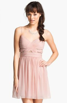 Hailey Logan Cutout Chiffon Dress (Juniors) available at #Nordstrom--Just needs to be a little longer for bridesmaids!
