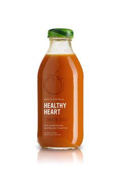 Healthy Heart Juice by Matt Ivory, via #Behance #Packaging #Branding
