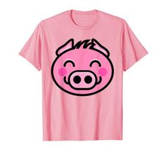 Happy Pig, Funny Happy, Farm Animals For Kids, Vegan, Amazon, Cute, Mens Tops, Amazons, Riding Habit