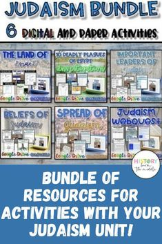 Bundle of activities for the study of Judaism! This bundle has 6 AMAZING resources that are ALL highly engaging! 8th Grade History, Social Studies Resources, Grades, Mobile Learning, History Teachers, Blended Learning, Judaism, Educational Technology, Ancient Egypt