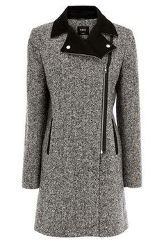 Tweed Biker Coat