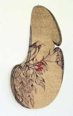 Alexis Neal, <i>Toi Ora</i>, relief etching on 300 x 250 mm paper, from an edition of 20, 2012. NZ$740 incl GST framed; NZ$420  incl GST unframed.