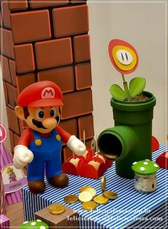 Festa Mario Bros: Luigi do Juan Carlos e Peach da Nicole Super Mario Bros, Super Mario Party, Bolo Super Mario, Super Mario Birthday, Mario Birthday Party, 6th Birthday Parties, Super Mario Brothers, Mario Und Luigi, Mario Bros.