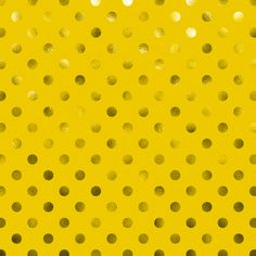 Free polka dot digital paper! Metallic gold foil swiss dots on yellow background. So cool...