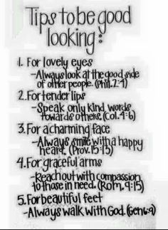 Tips for looking good