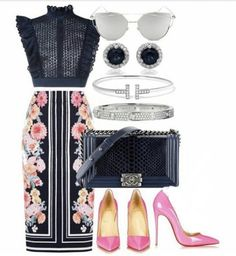 Work Fashion, Spring Fashion, Fashion Outfits, Womens Fashion, Skirt Fashion, Classy Outfits, Stylish Outfits, Beautiful Outfits, Complete Outfits