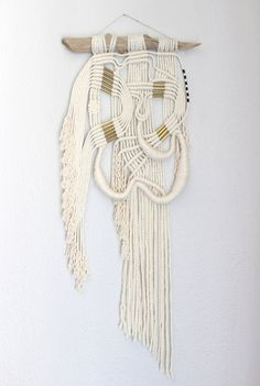 "Macrame Wall Hanging ""Silk"" by HIMO ART, One of a kind Handcrafted wall art"