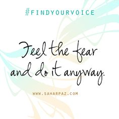 Feel it through. You'll see it's not as bad as you thought. Break The Cycle. #FindYourVoice