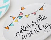 The Happy BIrthday Slice of Cake Plate- Personalized