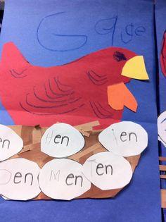 "The ""en"" Word Family - Fairy Dust Teaching.use with short e words Kindergarten Art Activities, Kindergarten Activities, Kindergarten Teachers, Preschool Ideas, Teaching Ideas, Traditional Tales, Traditional Stories, Little Red Hen Activities, Fairy Dust Teaching"