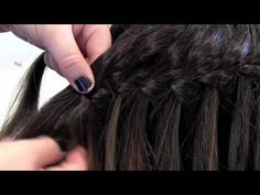Work a waterfall braid – soo pretty #hair #braids