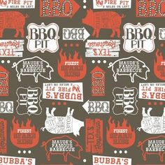 Maude Asbury - Ribs and Bibs - Open Pit in Brown
