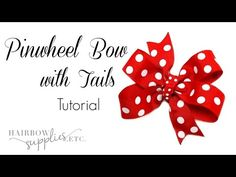 How to Make a Pinwheel Bow with Tails - Hairbow Supplies, Etc. - YouTube