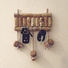 Porte clés mural fait maison