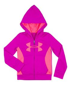 Take a look at the Pink & Peach Hit Logo Zip-Up Hoodie - Infant on #zulily today!