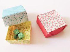 Voici comment réaliser facilement de jolies boites en #origami !