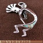 Sterling Silver And Opal Kokopelli Pendant Jewelry