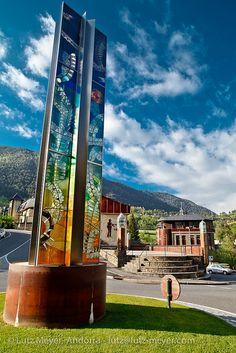 Glass art in Ordino, Andorra