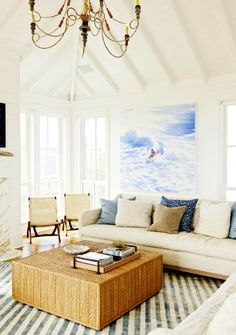 Old Beach House Ambiance in a Modern Summer Getaway on Sullivan Island.